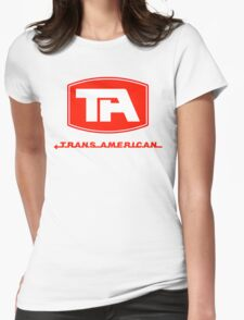 Trans American Airlines (Red Text) Womens Fitted T-Shirt
