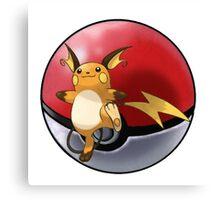 raichu pokeball - pokemon Canvas Print