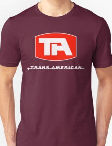 Trans American Airlines (White Text) Unisex T-Shirt