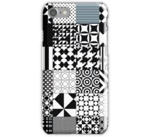 Black and White Abstract Patterns iPhone Case/Skin