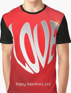 Love word modern background Graphic T-Shirt