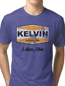 Kelvin Gasoline (Distressed) Tri-blend T-Shirt