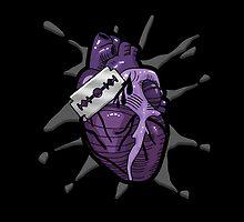 Goth Razor Heart by SquareDog