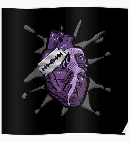 Goth Razor Heart Poster