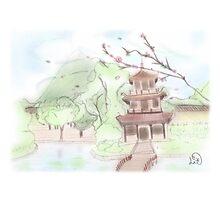 Asian pagoda (B) Photographic Print