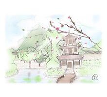 Asian pagoda (C) Photographic Print