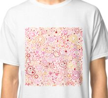 Ornamental pattern with hearts and flowers Classic T-Shirt
