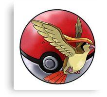 pidgeot pokeball - pokemon Canvas Print
