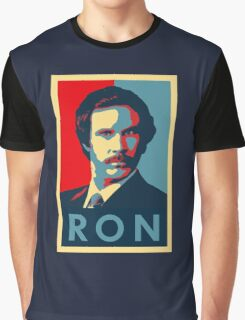 Ron Burgundy (Obama Style) Graphic T-Shirt