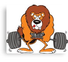 Weightlifting Lion Canvas Print