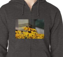 Bee on Rudbeckia Flowers Zipped Hoodie