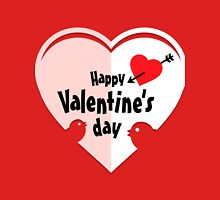 Valentine cut out heart with birds Unisex T-Shirt