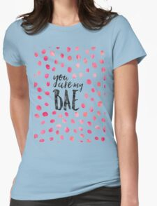 Modern typography BAE black pink watercolor Womens Fitted T-Shirt
