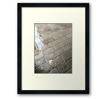 Typical pavement Framed Print