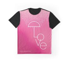 Valentines blurred background with umbrella Graphic T-Shirt