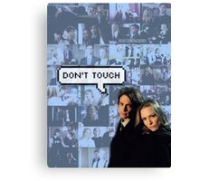 Spencer x JJ|| Dont touch Canvas Print