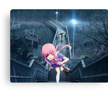 Yuno Gasai Running Up The Stairs Canvas Print