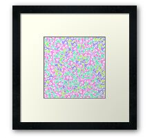 Pastel pink turquoise floral watercolor pattern Framed Print