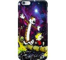 Calvin and hobbes forever iPhone Case/Skin