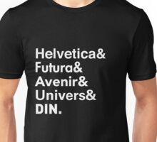 Sans-Serif Fonts Unisex T-Shirt