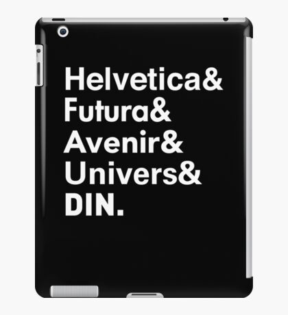 Sans-Serif Fonts iPad Case/Skin