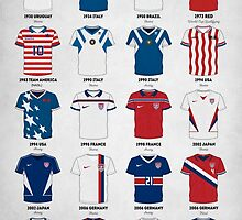 The Evolution of the Us World Cup Soccer Jersey by Taylan Soyturk