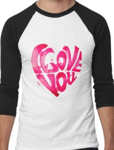 Watercolor hearts collection Men's Baseball ¾ T-Shirt
