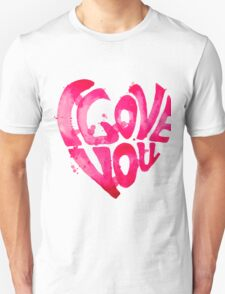 Watercolor hearts collection Unisex T-Shirt