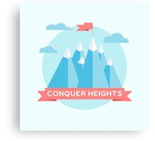 Conquer heights Canvas Print