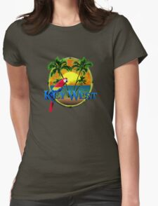 Key West Sunset Womens Fitted T-Shirt