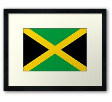 Jamaican Flag Framed Print