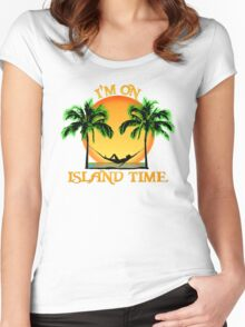 Island Time Women's Fitted Scoop T-Shirt
