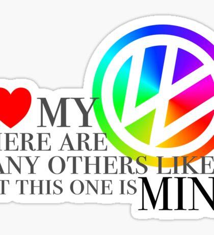Rainbow I love my VW Sticker