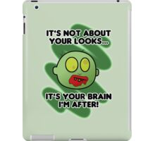 Funny Zombie - It's not about your looks iPad Case/Skin