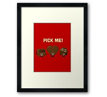 Character Building - Chocolates Framed Print