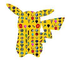 Pokemon 20th pikachu badges Photographic Print