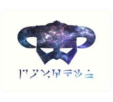galaxy Dragonborn Art Print