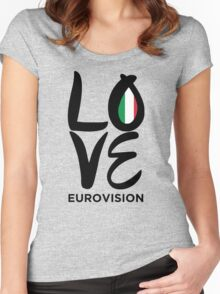 LOVE Eurovision [Italy] Women's Fitted Scoop T-Shirt