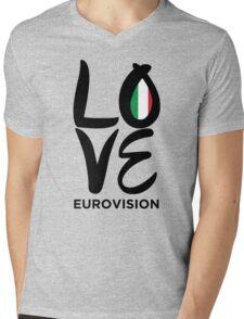 LOVE Eurovision [Italy] Mens V-Neck T-Shirt