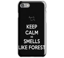 Outlaw Queen He smells like forest iPhone Case/Skin