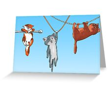 Hanging Cats of Babylon Greeting Card
