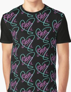B*tch - Heart Print Graphic T-Shirt