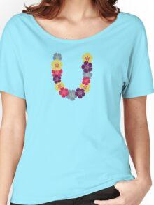 Hawaiian flower chain  Women's Relaxed Fit T-Shirt