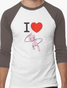 I Love Mew Men's Baseball ¾ T-Shirt