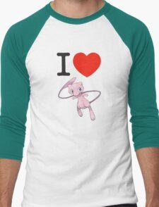 I Love Mew Men's Baseball ¾ T-Shirt