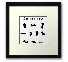 Scottie's Yoga Framed Print