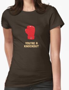 Character Building - Boxing Glove Womens Fitted T-Shirt