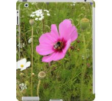 Bumble Bee perching on a Purple Flower iPad Case/Skin