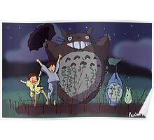 My Neighbour Totoro scene Poster