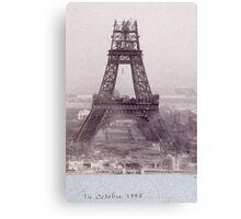 tour eiffel 14 octobre 1888 Canvas Print